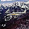 Commercial flight over the Elkhorn Mountains