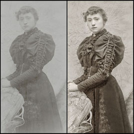 Edith Wright portrait restoration