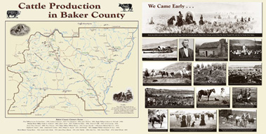 Baker County Oregon Cattle Industry history exhibit - by Gildemeister