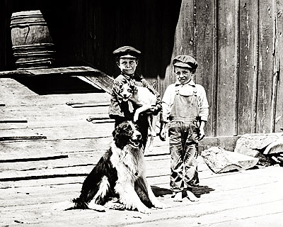 Boys with Dogs - Sumpter Oregon