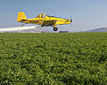 potato field crop duster