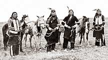 Indian Braves with Horses
